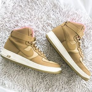NIKE Air Force One '07 golden tan and pink size 12